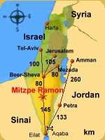 Israel Jordan distance map